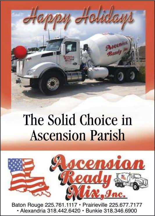 The Solid Choice in Ascension Parish Baton Rouge 225.761.1117 • Prairieville 225.677.7177 • Alexandria 318.442.6420