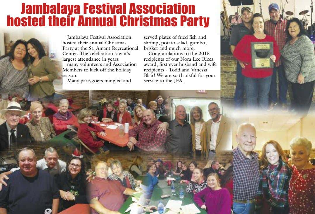 Jambalaya Festival Association hosted their Annual Christmas Party Jambalaya Festival Association hosted their annual