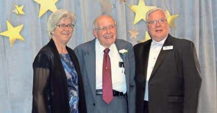 TSC's Sheila Salyer and Neil Brown (on right) share the evening with Silver Star Ed Walters.