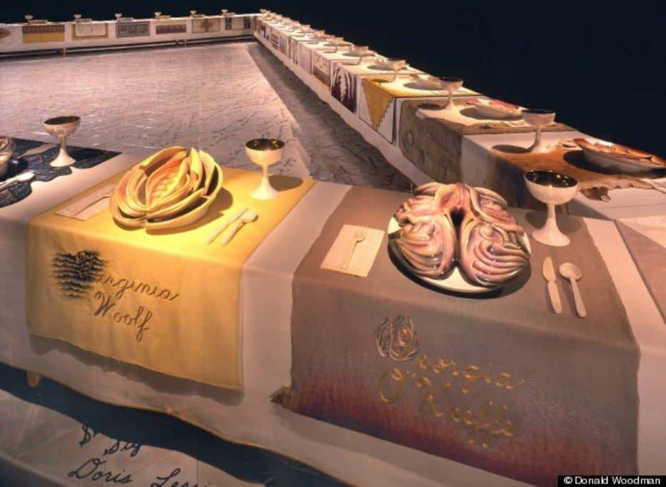 Judy Chicago, The dinner party . 1979. Collection of the Brooklyn Museum of Art. Photo