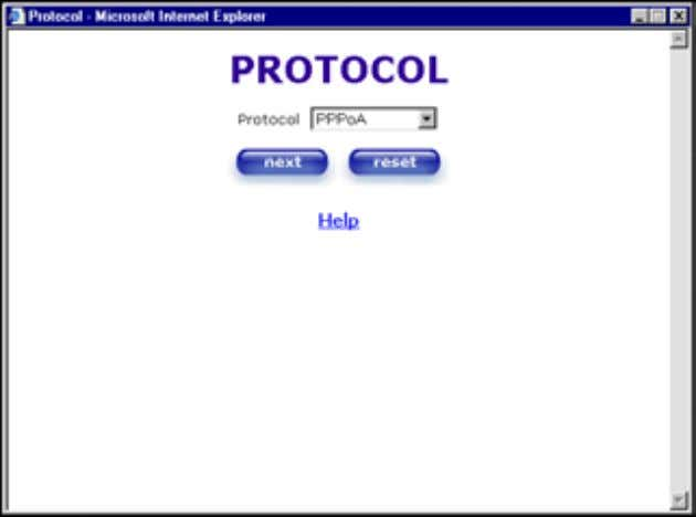 User Guide Westell Router (Models 6000, 6100) Select the Protocol type that you obtained from your