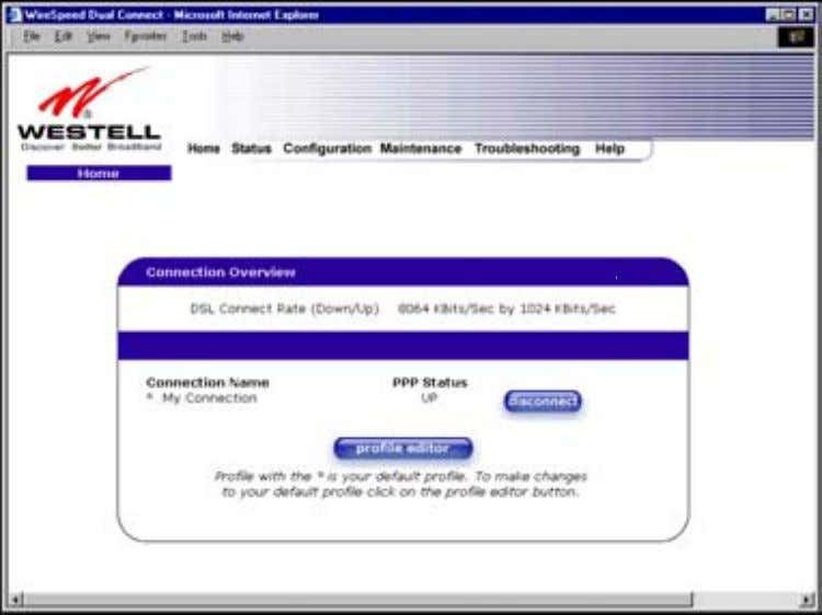 User Guide Westell Router (Models 6000, 6100) 10. HOME If you have set up your account