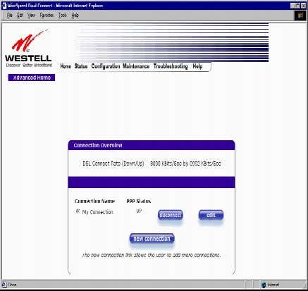User Guide 10.1 Editing Account Profiles Westell Router (Models 6000, 6100) If you select the Profile