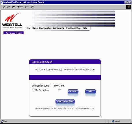 User Guide 10.2 Adding Account Profiles Westell Router (Models 6000, 6100) If you select the Profile