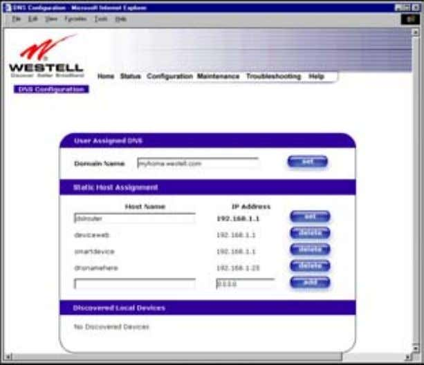 User Guide Westell Router (Models 6000, 6100) If you clicked on add , the following screen