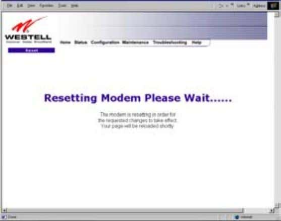 User Guide Westell Router (Models 6000, 6100) If you clicked on OK in the preceding screen