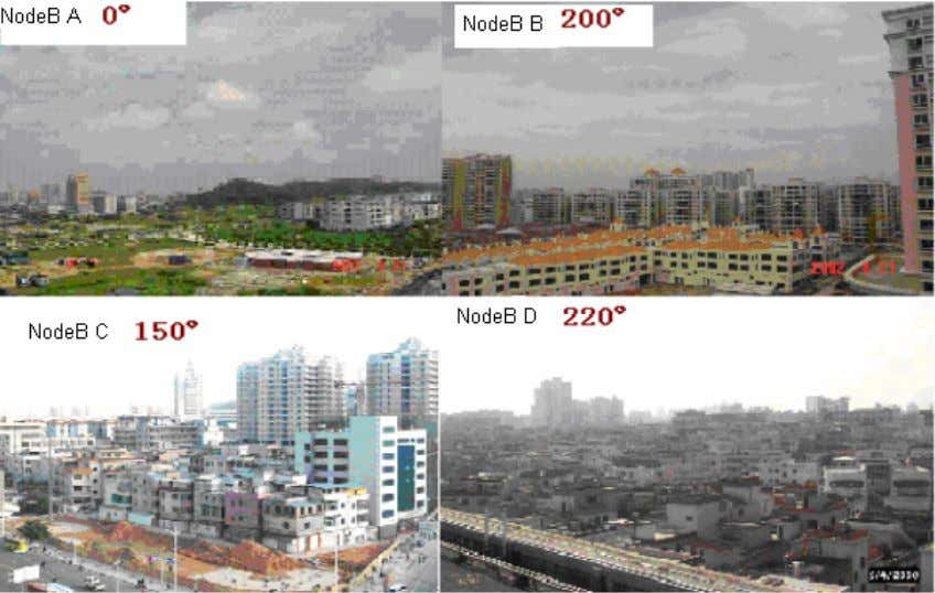 Survey photo of each cell related to pilot pollution High buildings or hills blocks the