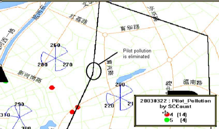 the pilot pollution near Yuxing Rd. after optimization. Pilot pollution near Yuxing Rd. after optimization 0