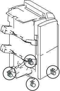 the height NOTE: Adjust the height at four casters. F-2-56 2-1) Using the wrench, turn the
