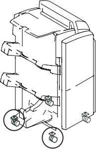 the tilt NOTE: Adjust the tilt at two left casters. F-2-59 3-1) Using the wrench, turn