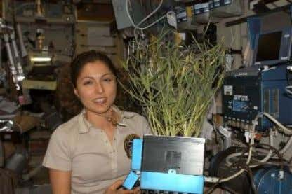 and effective way to provide oxygen during space travel. Figure 8: Spaceflight participant Anousheh Ansari holds