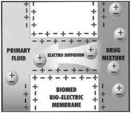 the anode as shown in Figure 2.5 (Genesis membrane, 2009). Fig. 2.5 Electrically driven membrane (Genesis