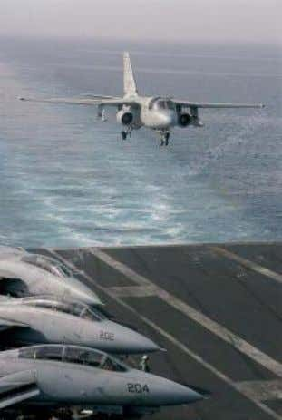 with respect to the aircraft carrier to make a safe landing. © 2013 The McGraw-Hill Companies,
