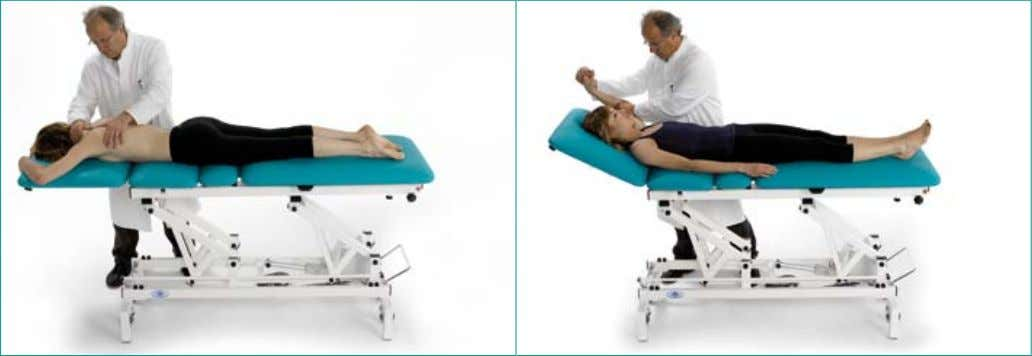 Lumbar traction application Cervical traction application 11 Manual treatment applications Technical SpecificaTionS
