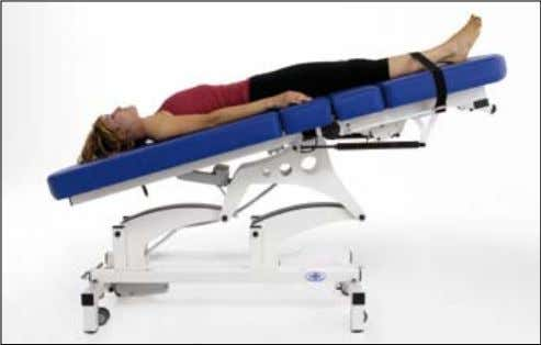 Galileo - Spinal Decompression couch Made in Italy Examination position Trendelenburg position with optional tibial