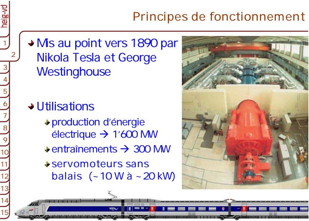 Principes de fonctionnement 1 1 Mis au point vers 1890 par 2 2 2 Nikola