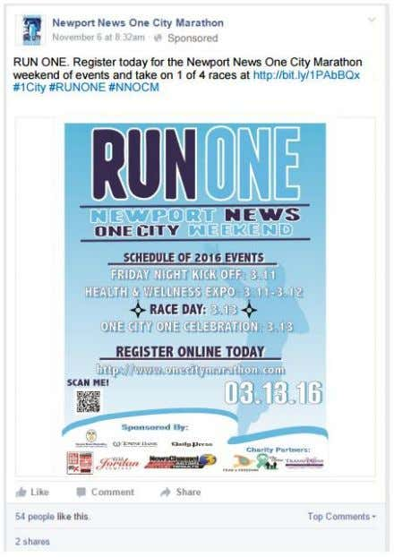 Google Advertisement Linking to OneCityMarathon.com, this ad calls upon the target consumer to register for the