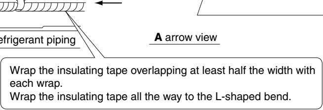 A arrow view Wrap the insulating tape overlapping at least half the width with each wrap.