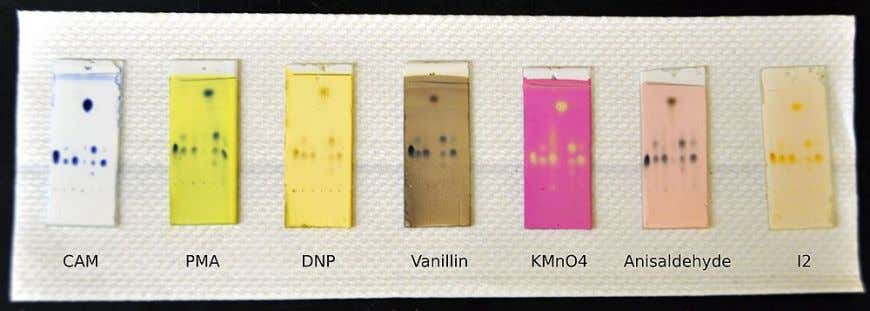 Chromatography (TLC) Visualiza1on reagent •   DetecSon of organic compounds with spraying of reagent into TLC