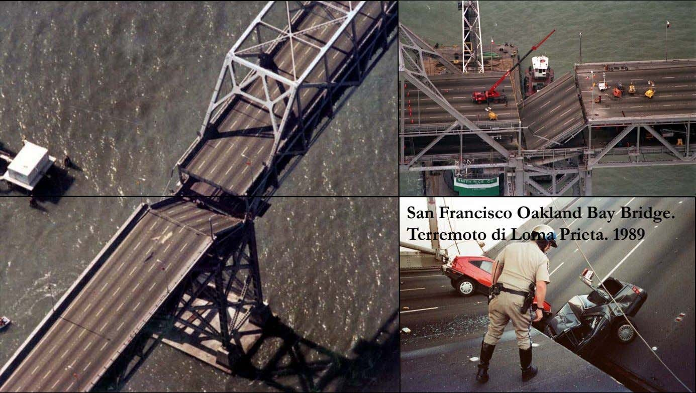 San Francisco Oakland Bay Bridge. Terremoto di Loma Prieta. 1989