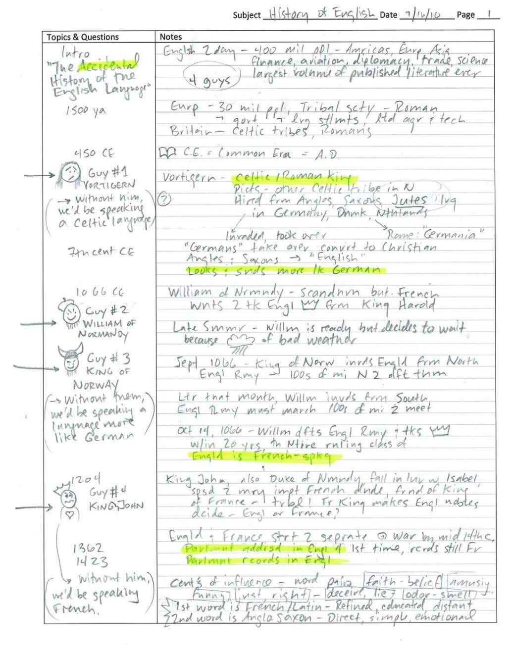 Note Taking Workshop with Dr. Getty | Page 5 of 6