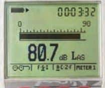 Sound Pressure Level Display Displays the current Sound Pressure Level (SPL) with selected time response