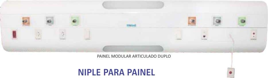 PAINEL MODULAR ARTICULADO DUPLO NIPLE PARA PAINEL