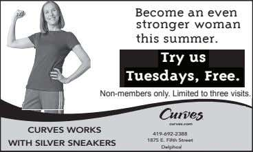 Become an even stronger woman this summer. Try us Tuesdays, Free. Non-members only. Limited to