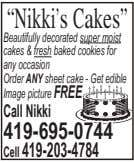 """Nikki's Cakes"" Beautifully decorated super moist cakes &fresh baked cookies for any occasion Order ANY"