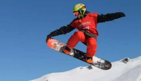 his snowboard, the youthful, extreme sports image of snowboarding may soon fade as more people over