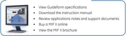• View Guideform specifications • Download the instruction manual • Review applications notes and support
