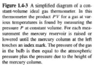 will come back to this in chapter 6). IDEAL GAS THERMOMETER (not convenient and replaced by