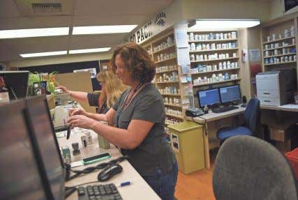 to the issue. As a general rule, the Pharmaceutical Pharmacy technicians Julie Railey, right, and Erin