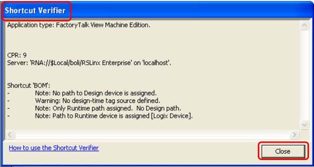 DE FactoryTalk View Machine Edition NIVEL: 3 MANUAL Comentarios: Si la configuración de Design (Local) es
