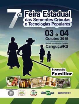Familiar e o Fórum da Agricultura Familiar (ver Figura 2). Figura 2: Cartaz da 7 a