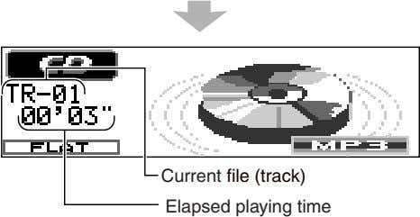 Current file (track) Elapsed playing time