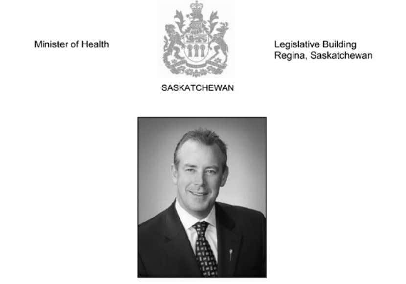 A Message from the Honourable Don McMorris Minister of Health On behalf of the Government