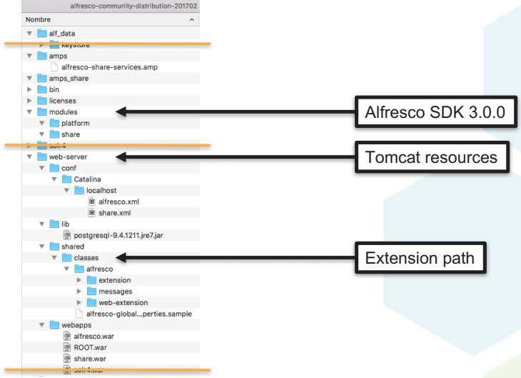 Alfresco SDK 3.0.0 Tomcat resources Extension path