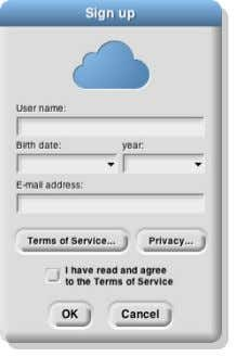 ") in the Tool Bar. Choose the ""Signup…"" option. This You must choose a user name"