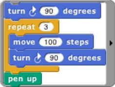 the continuation of the first use of move 100 steps is in which part comes from