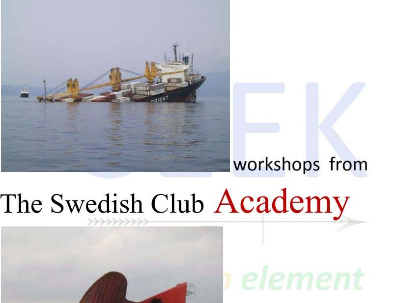 workshops from The Swedish Club Academy