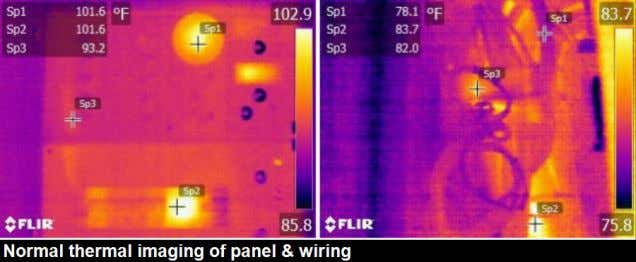 Other notes: No thermal anomalies were sighted when checking the DC and AC wiring that were