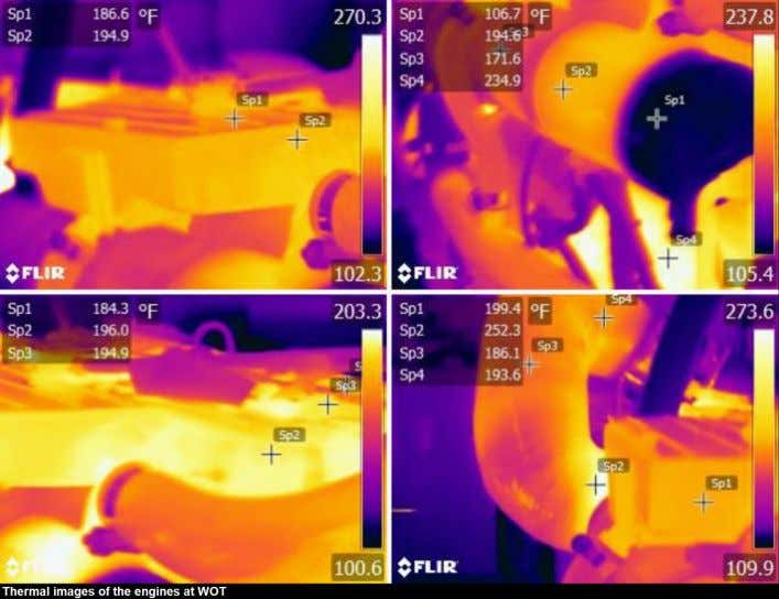 Thermal images: Thermal images appeared normal on the engines. No abnormal thermal anomalies were sighted while