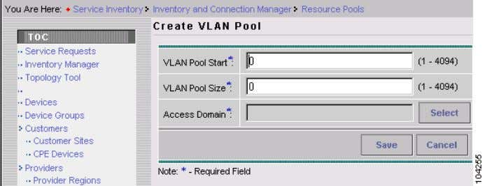 2 Setting up the ISC Service Figure 2-4 Create VLAN Pool S t e p 6