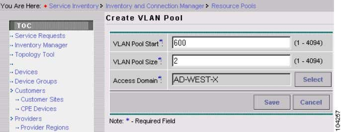 Create VLAN Pools Figure 2-6 Updated Create VLAN Pool S t e p 9 Click Save