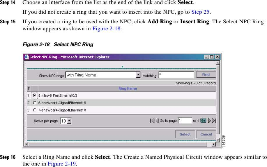 Step 14 Choose an interface from the list as the end of the link and