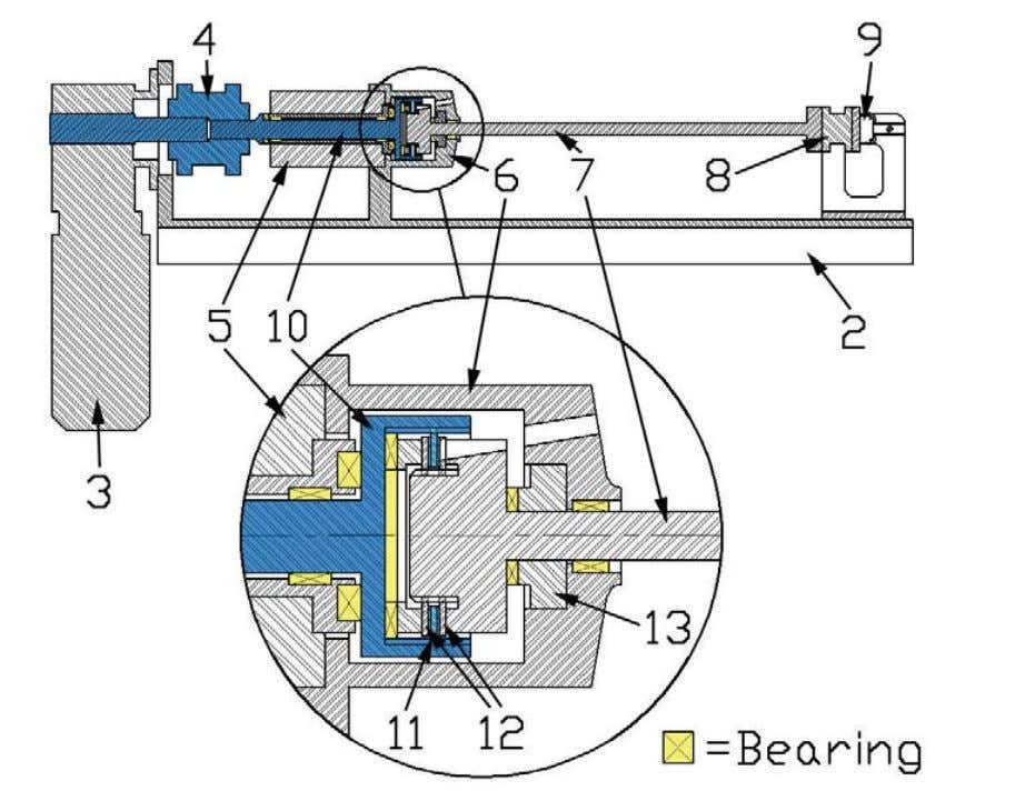 this thesis provides additional details of this test rig. Figure 6: Simplified cross-section of the test