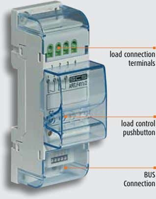 load connection terminals load control pushbutton BUS Connection