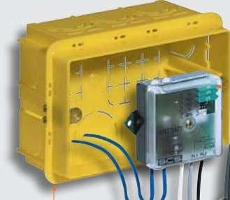 devices) ■ exaMPLe of INStaLLatIoN IN fLuSH-MouNtING Box contact interface traditional pushbutton box 3-module