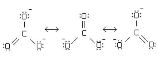 practice spotting molecules stabilized by resonant forms. In the Lewis structures above, carbonate (CO 3 )